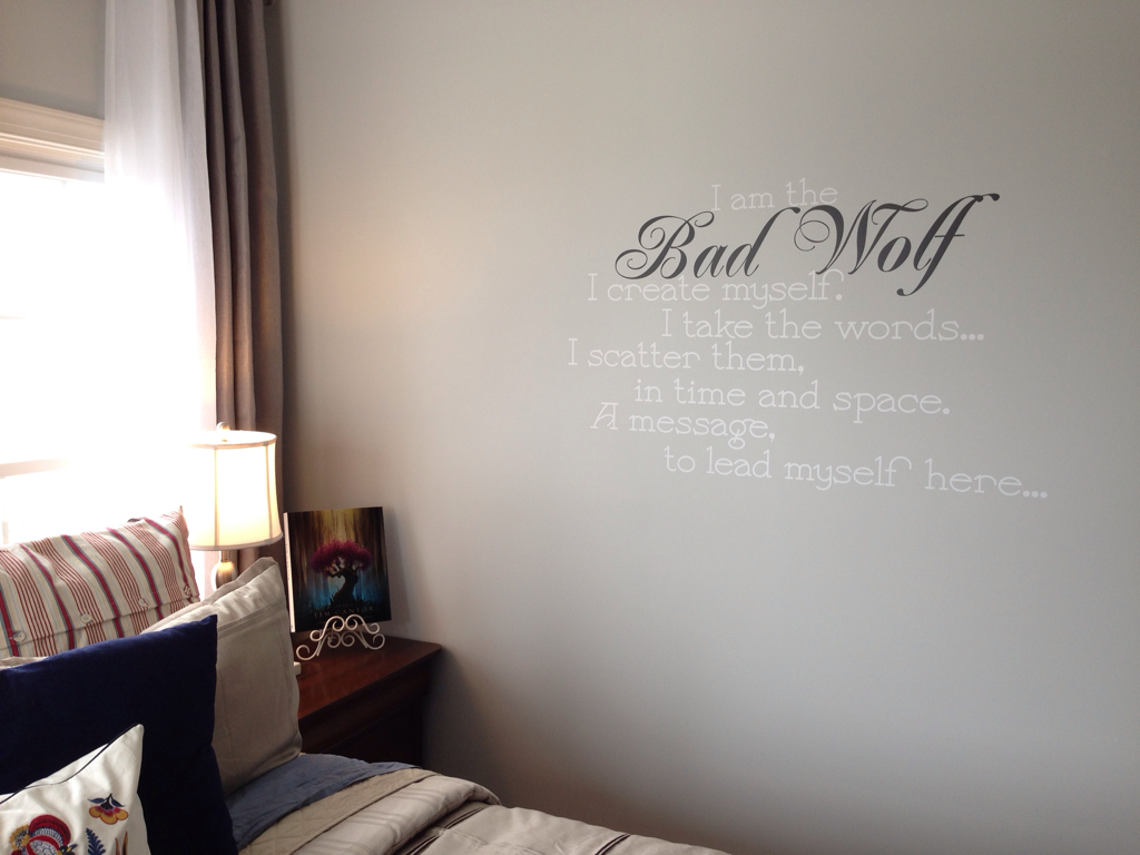 30a5b8d522570 Custom Bad Wolf Quote Wall Decal by GeekeryMade on DeviantArt