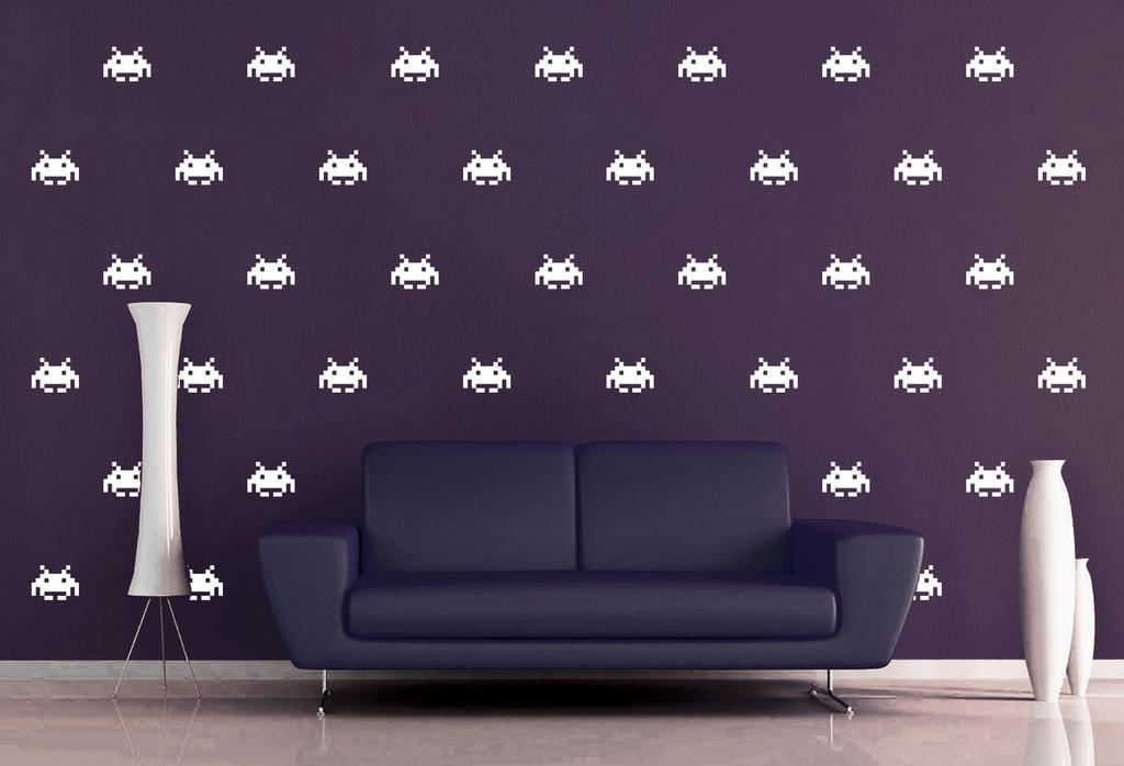 Space Invaders Wall Decal Pattern Set By Geekerymade On Deviantart