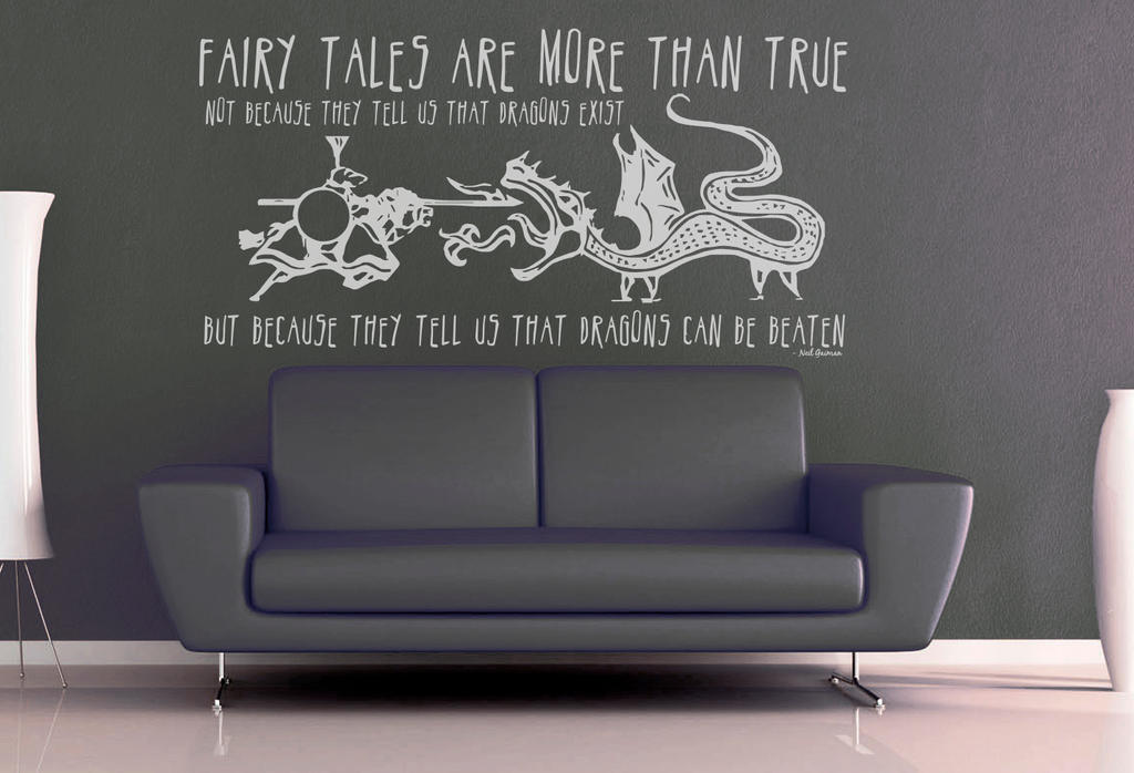 Fairy Tales Are More Than True Wall Decal By Geekerymade On Deviantart