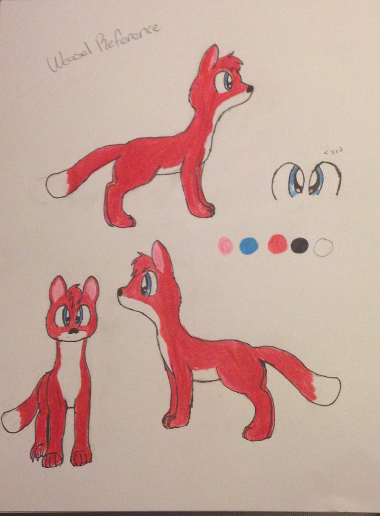 Weasel Reference by Psyche-The-Rabbit