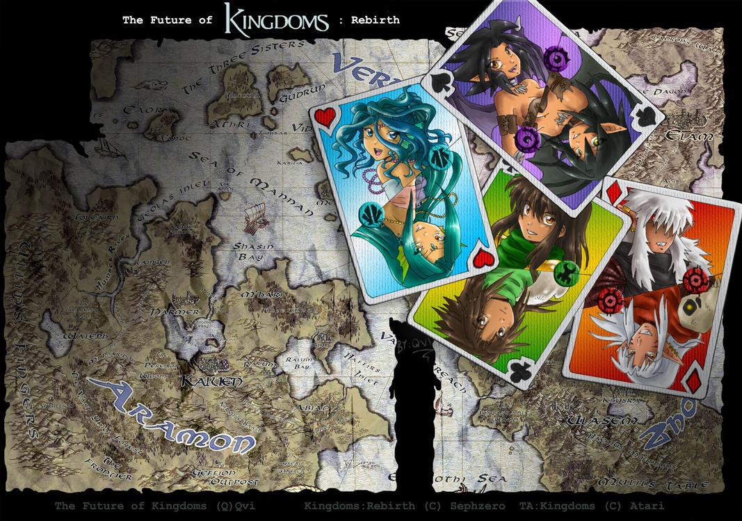 Kingdoms cards by Qvi