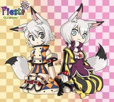 Fiesta - Teruko and Miwako by Qvi