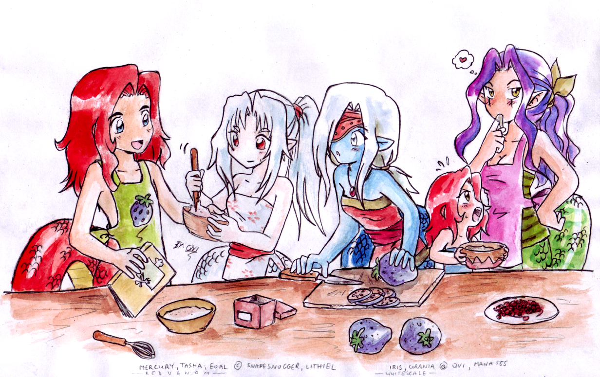 Nagas in the kitchen by Qvi