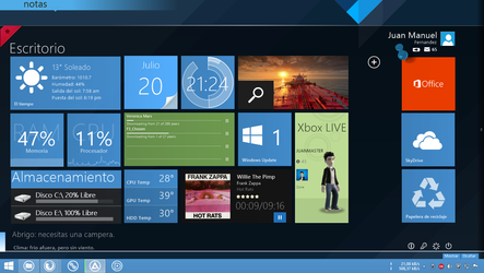 Windows 8.1 Desktop by JUANMAS7ER