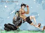 Zoro and Luffy neko