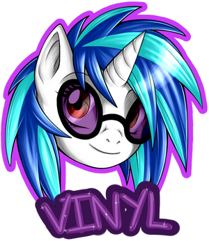 Vinyl Scratch Badge