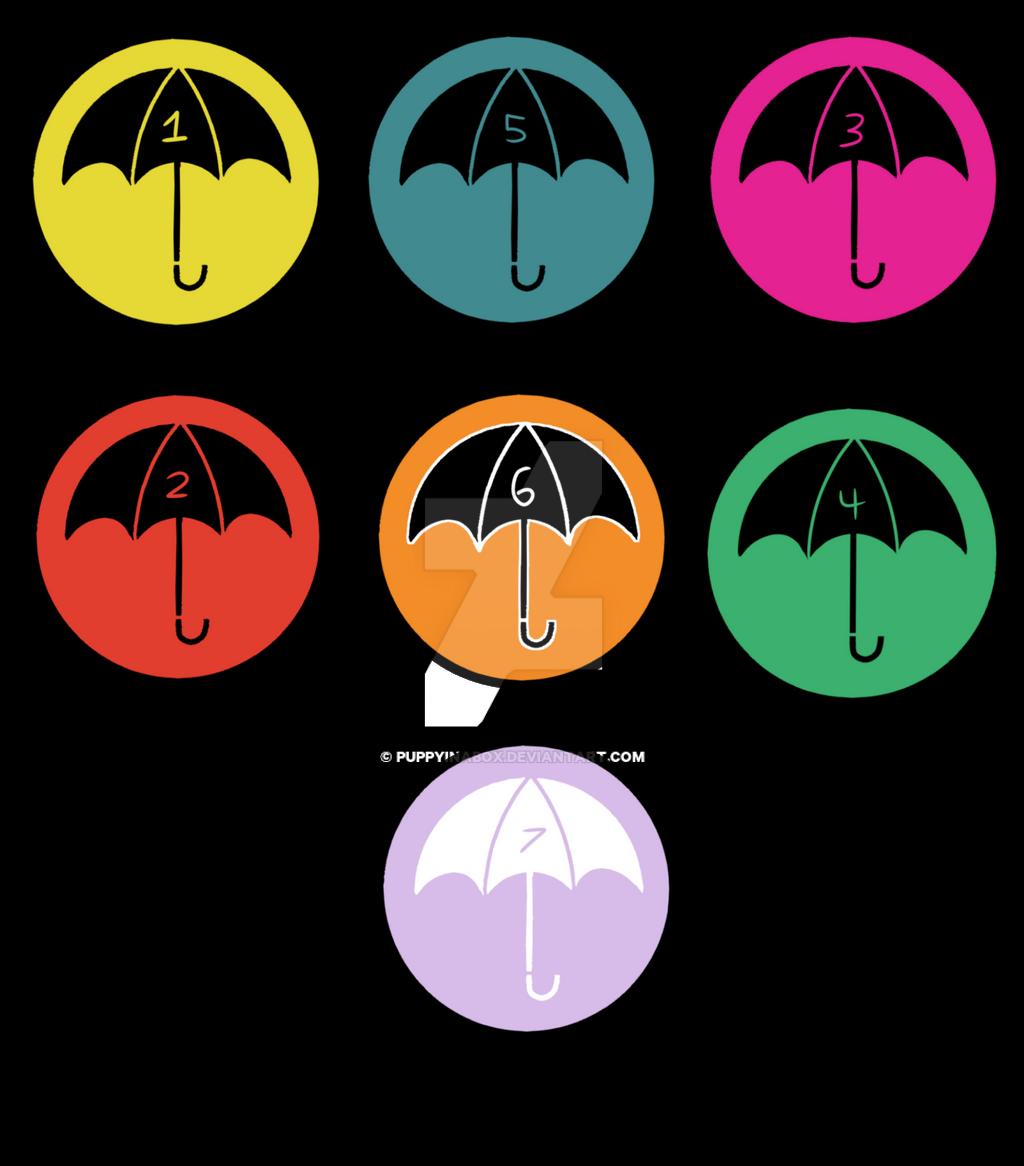 umbrella academy stickers by puppyinabox on DeviantArt