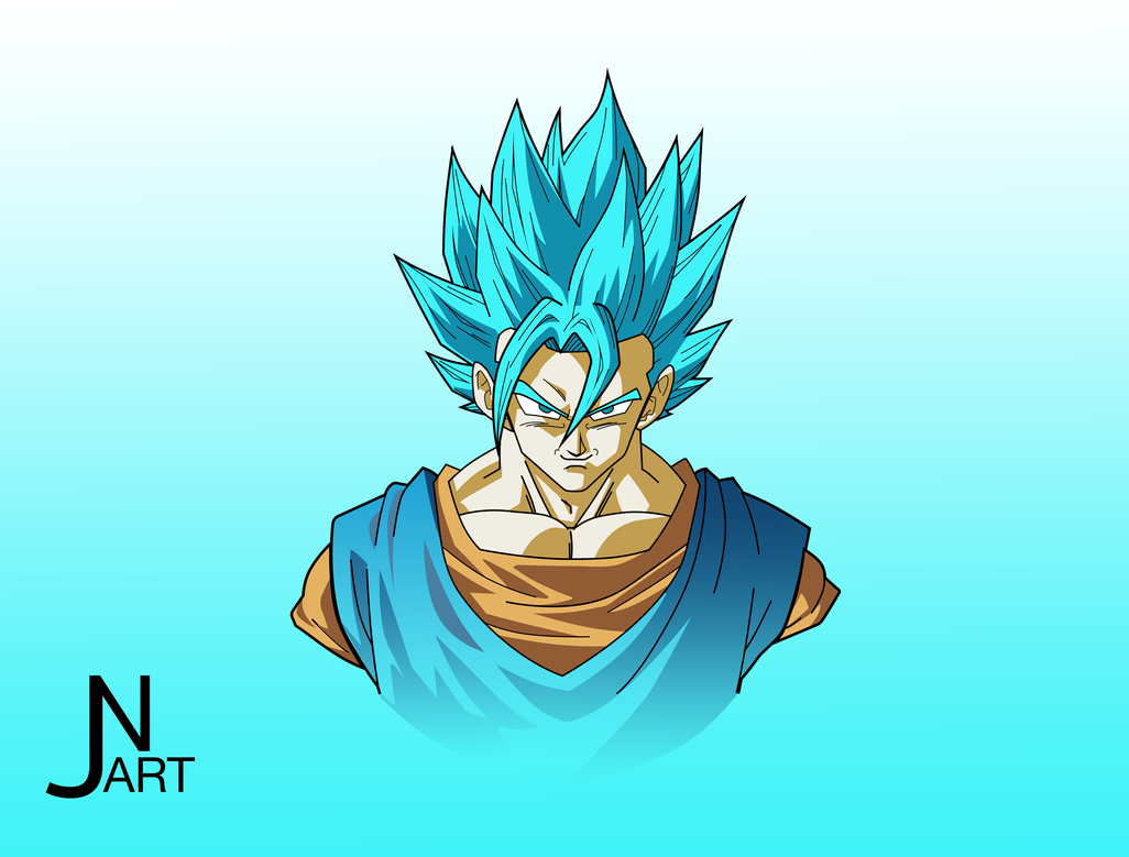 Vegito Super Saiyan Blue by JN98 on DeviantArt