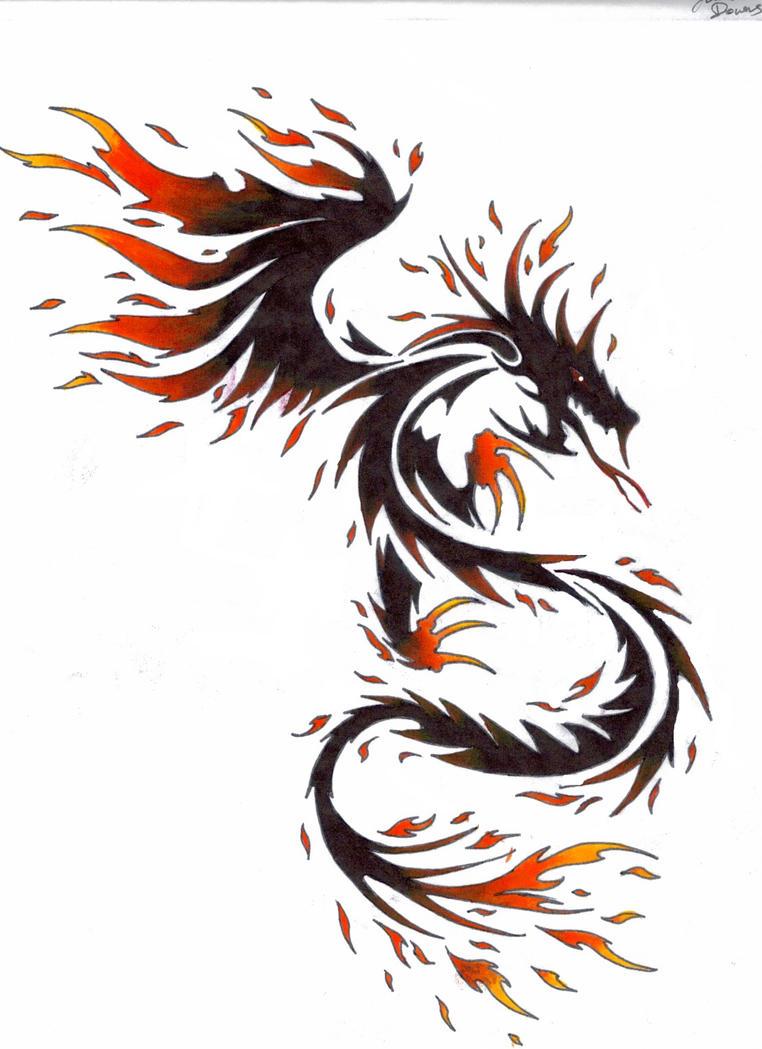 fire dragon by kitsune lunar rose on deviantart. Black Bedroom Furniture Sets. Home Design Ideas