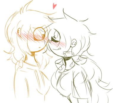 Springy x Goldia- female - sketch - by Mizuki444