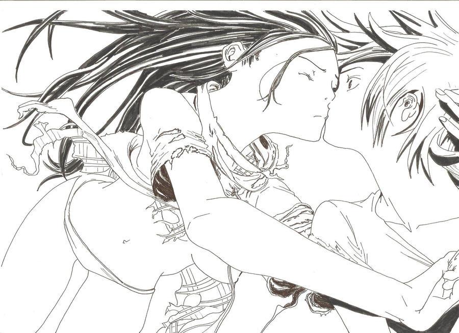 Kiss under water AIR GEAR by sakanachan