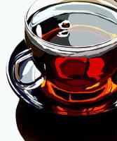 Tea Cup Vector by misscbong