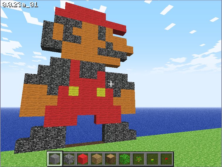 Minecraft Old Skool Mario by TheCorrupted