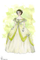 Early Victorian Crinoline Gown by Yosephyne