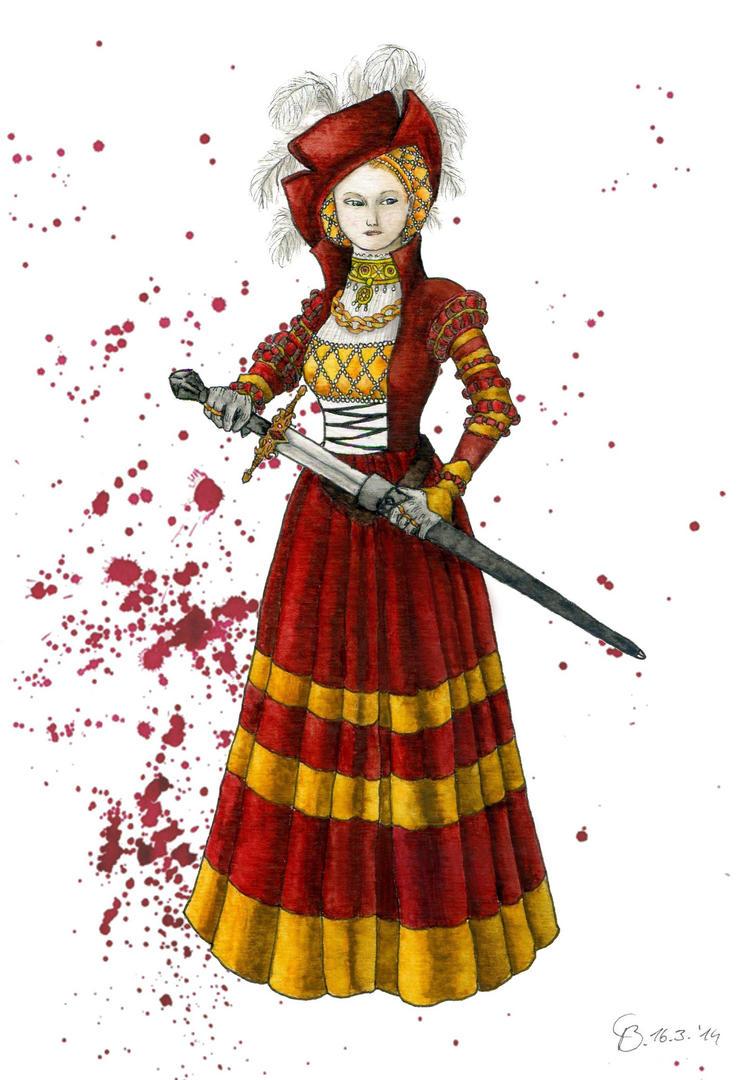 Blood and Gold Cranach Dress by Yosephyne on DeviantArt