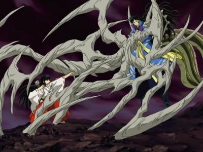 Kikyos last battle,with Naraku by anight2 on DeviantArt
