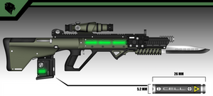 Grizzly's MRX14 Laser Rifle by Cyborg-Samurai
