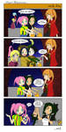 royal flush halloween 4koma! three by AsakuraMei