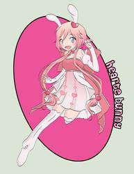 chibi gift art - hearte bunny by AsakuraMei