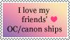 [stamp] friends' ship support by AsakuraMei