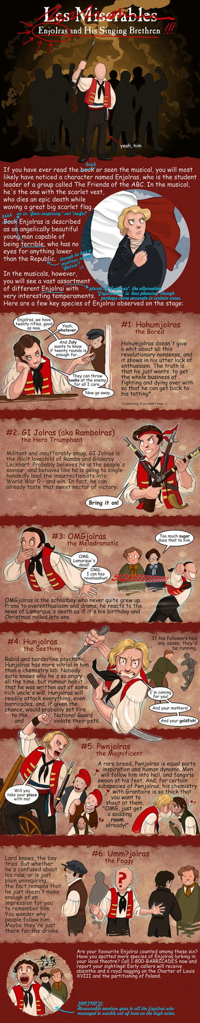 Enjolras' Singing Brethren by DarthFar