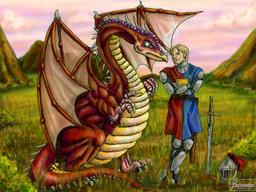 The Dragon and the Knight by DarthFar on DeviantArt