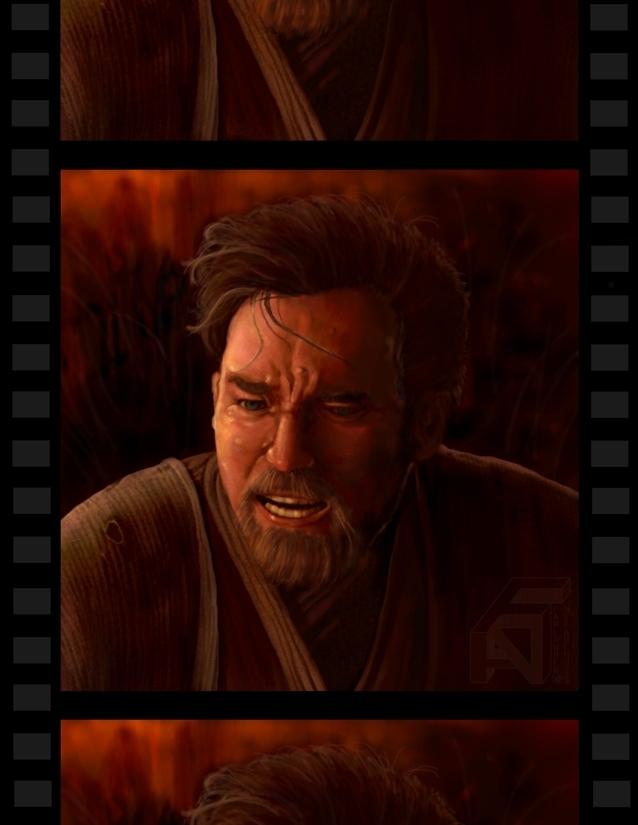 Obi-Wan on Mustafar by DarthFar