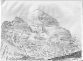 Mountain at Lake Louis by Kiaserliche