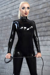 Lotte - Black Catsuit by Kopp-Photography