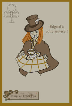 Edgard the Mad Hatter of my shop by Emma-O-Lantern