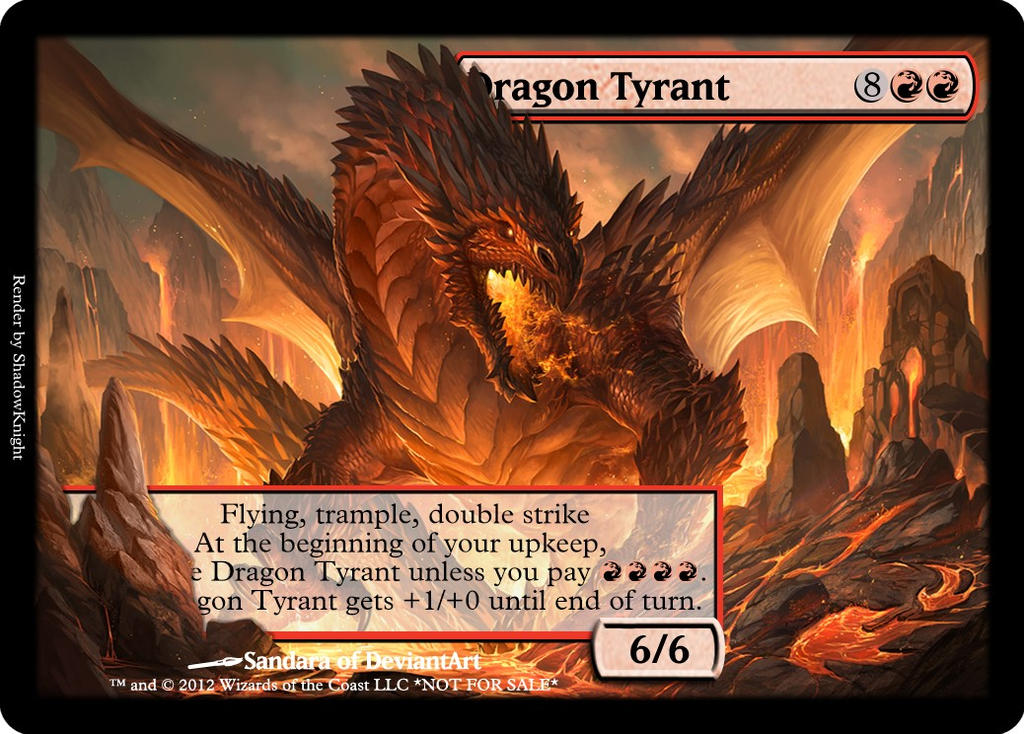 Tyrant Dragon Effect Dragon Tyrant by Aeoncleanse