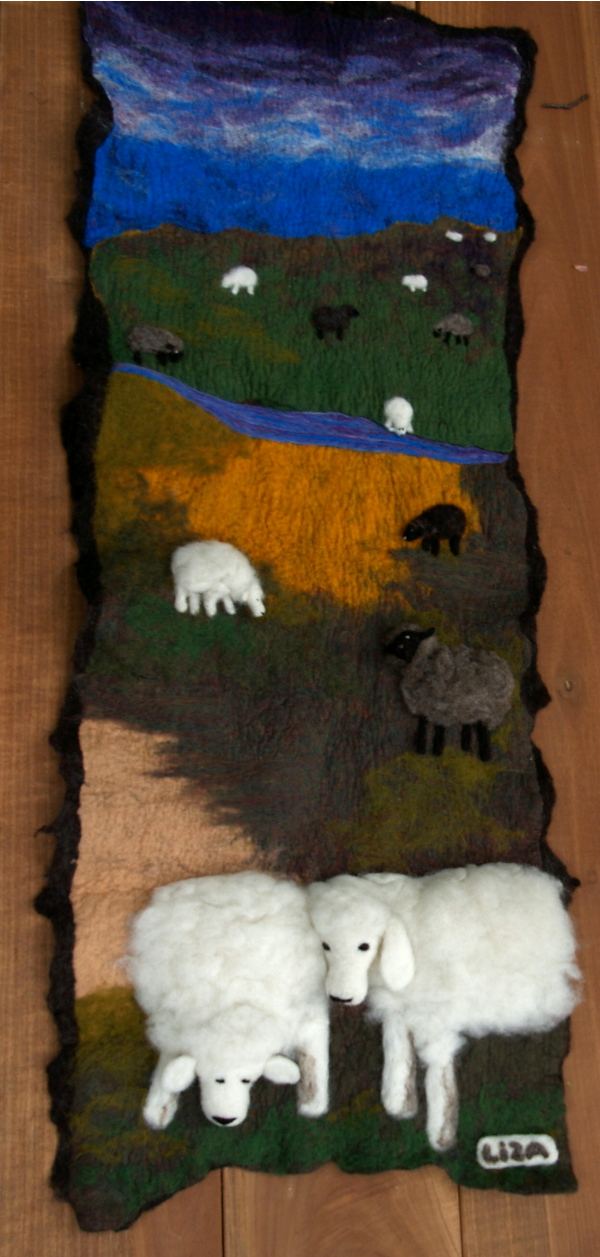 Hand Felted Mural by feltAliza