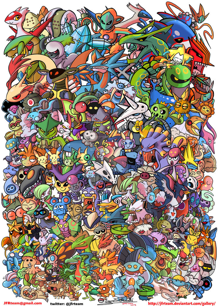 All Hoenn Pokemon by JFRteam