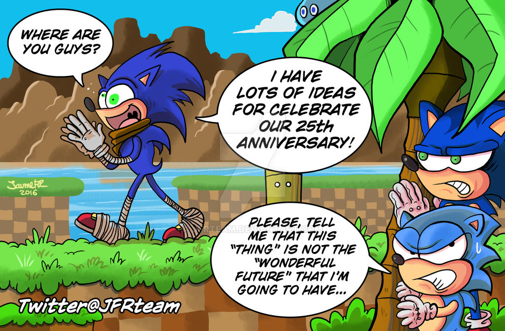 Sonic 25th Anniversary by JFRteam