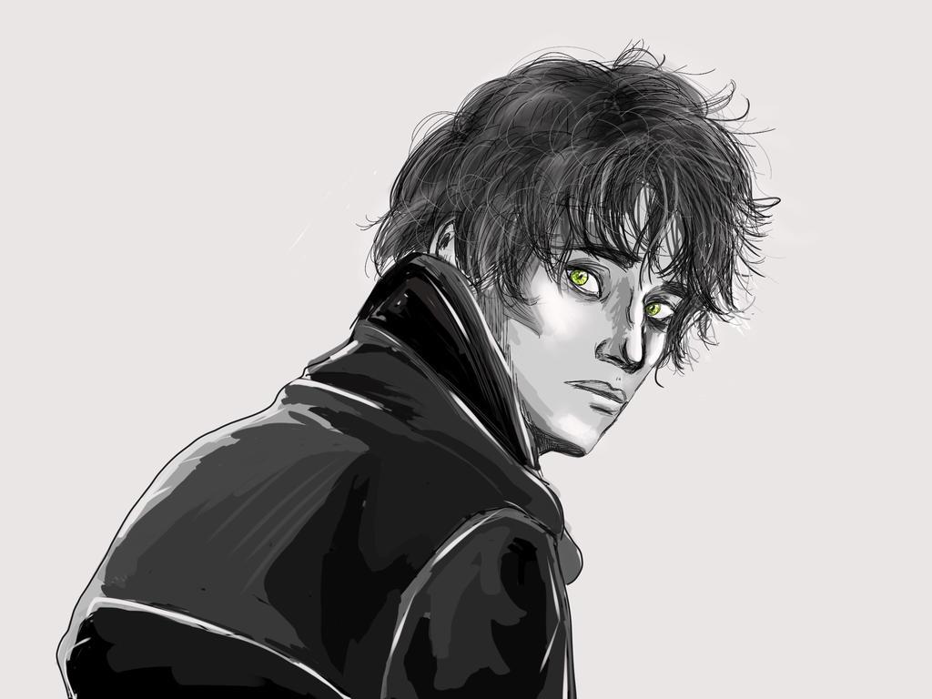 Green eyes by pierrotlunaire89