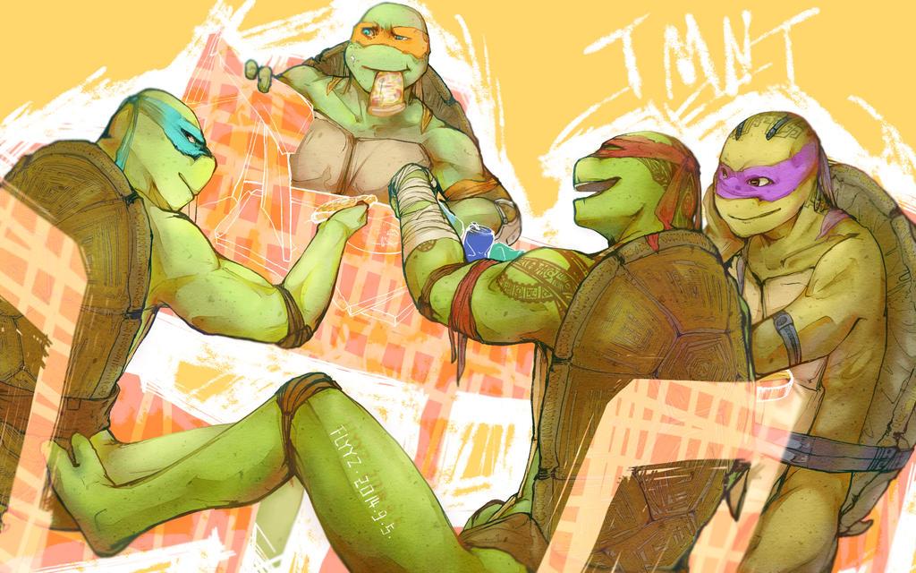TMNT-Happy ending 2014 by flyYZ