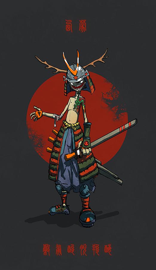 Gado San Samurai by Xiperius