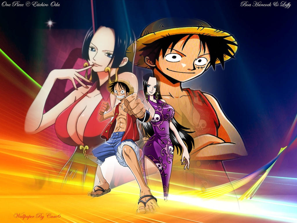 Download Wallpaper Luffy And Hancock HD