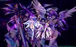 Spirit Tohka and Angel Purple Heart