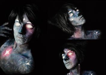 Wolf galaxy makeup by Yukikow