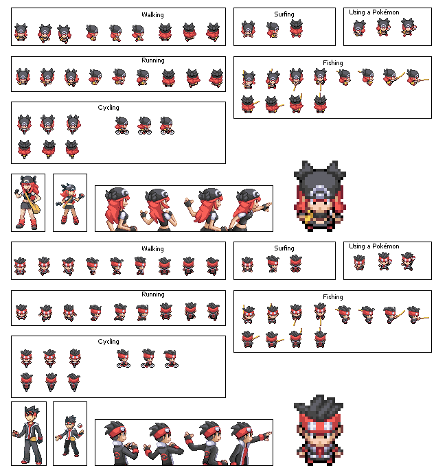 Firered Hack Pok 233 Mon Version 6 Protagonist Overworld Sprites Released Page 4 The