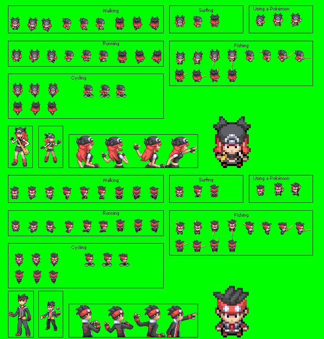 firered hack pok233mon version 6 protagonist overworld