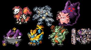 Pokemon Infinite Fusion - My Team