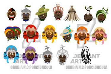 Emoji Orixas by Oradine