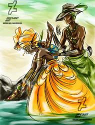 Oxossi, Oxum e Logun Ede by Oradine