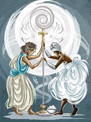 Jesus e Oxala by Oradine