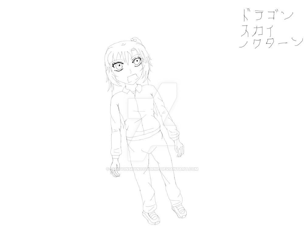 VolleyBall Karasuno - Rin - line art by DragonSkyNocturne