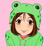 Frog girl by postmodernsoldier