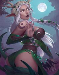 Habriela - Night elf druid by Gianara