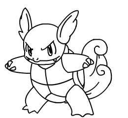 pokemon wartortle coloring pages - photo#10